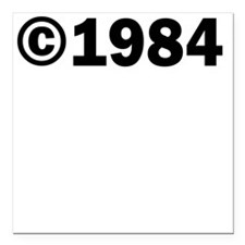 "COPYRIGHT 1984 Square Car Magnet 3"" x 3"""