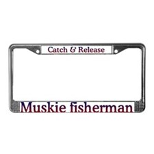 Muskie fisherman License Plate Frame