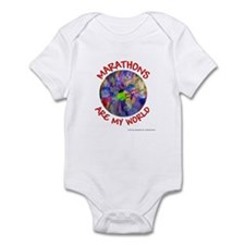 Marathons are my World Infant Bodysuit