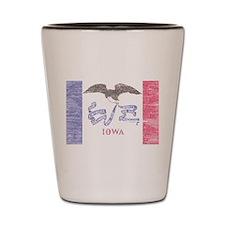 Iowa Vintage State Flag Shot Glass