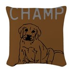 OYOOS Champ Dog design Woven Throw Pillow