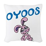 OYOOS Bunny design Woven Throw Pillow