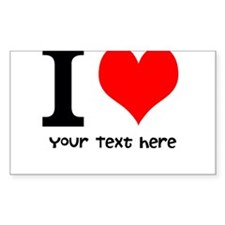 I Heart (Personalized Text) Decal