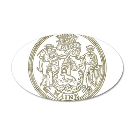 Maine State Seal Wall Decal