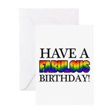 Fabulous Gay Pride Birthday Greeting Card