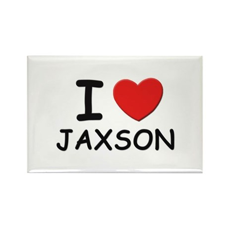 I love Jaxson Rectangle Magnet