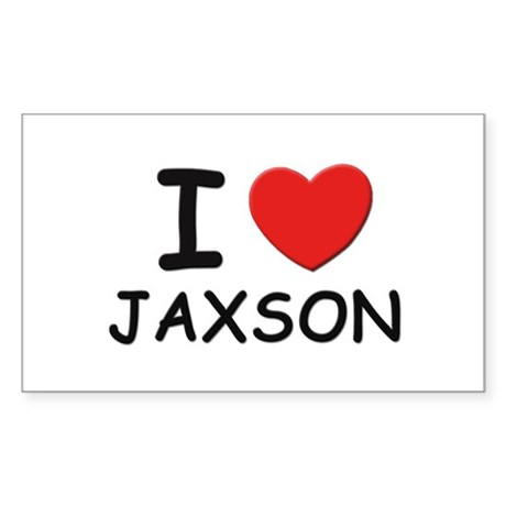 I love Jaxson Rectangle Sticker