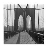 Tile Coaster&lt;BR&gt;Vintage Brooklyn Bridge