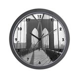 Wall Clock&lt;BR&gt;Vintage Brooklyn Bridge