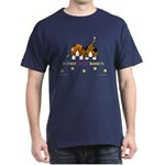 Nothin' Butt Bassets Navy T-Shirt