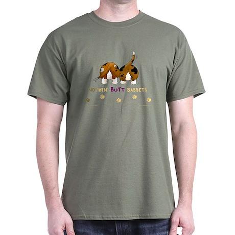 Nothin' Butt Bassets Green T-Shirt