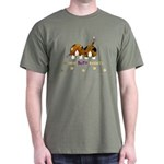 Nothin' Butt Bassets Green T-Shirt