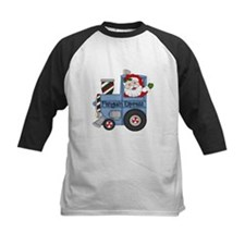 Santa in Train Baseball Jersey