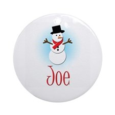 Snowman - Joe Ornament (Round)