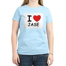I love Jase Women's Pink T-Shirt