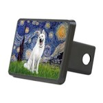 Starry-White German Shepherd Rectangular Hitch Cov