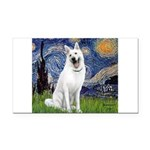 Starry-White German Shepherd Rectangle Car Magnet