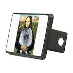 Mona Lisa - Keeshond (F).png Rectangular Hitch Cov