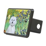 Irises / Maltaese (B) Rectangular Hitch Cover