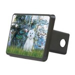 Lilies #1 - Maltese (B) Rectangular Hitch Cover