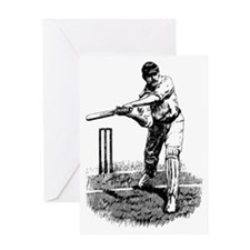 Cricket Player Greeting Card