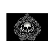 Skull Ace Of Spades Rectangle Magnet