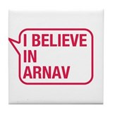 I Believe In Arnav Tile Coaster