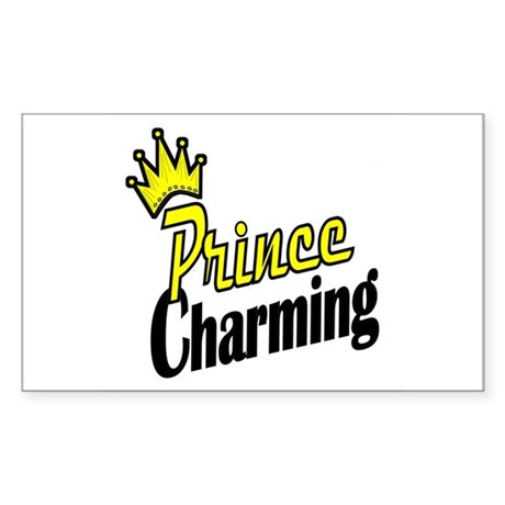 Prince Charming Rectangle Sticker