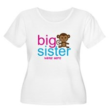 Personalized Big Sister Monkey T-Shirt