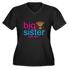 Personalized Big Sister Monkey Women's Plus Size V