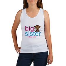 Personalized Big Sister Monkey Women's Tank Top