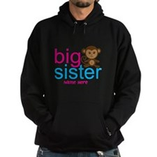 Personalized Big Sister Monkey Hoodie