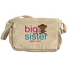 Personalized Big Sister Monkey Messenger Bag