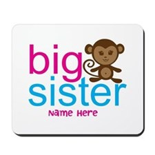 Personalized Big Sister Monkey Mousepad