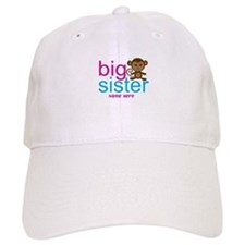 Personalized Big Sister Monkey Baseball Cap