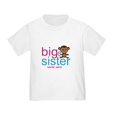 Personalized Big Sister Monkey T