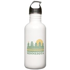 Vintage Minnesota Sunset Water Bottle