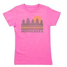 Vintage Minnesota Sunset Girl's Tee