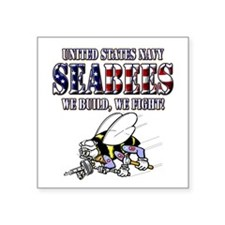 US Navy Seabees RWB Sticker