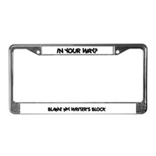 Writer's Block License Plate Frame