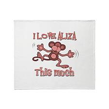 I love Aliza Throw Blanket