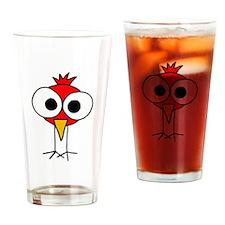 Funky Cardinal Redbird Art Drinking Glass