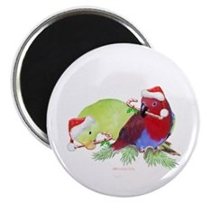 "Trish's Parrots Christmas 2.25"" Magnet (10 pack)"