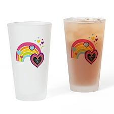 Girly Add Image Rainbow Drinking Glass