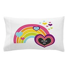 Girly Add Image Rainbow Pillow Case