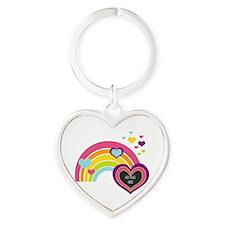 Girly Add Image Rainbow Keychains