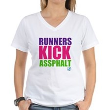 Runners Kick Assphalt // Women's V Neck