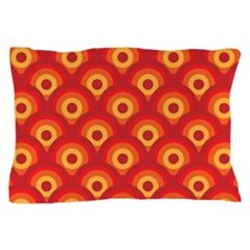 Orange Retro Circles Pillow Case
