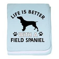 Field Spaniel dog gear baby blanket