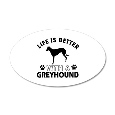Greyhound dog gear 35x21 Oval Wall Decal